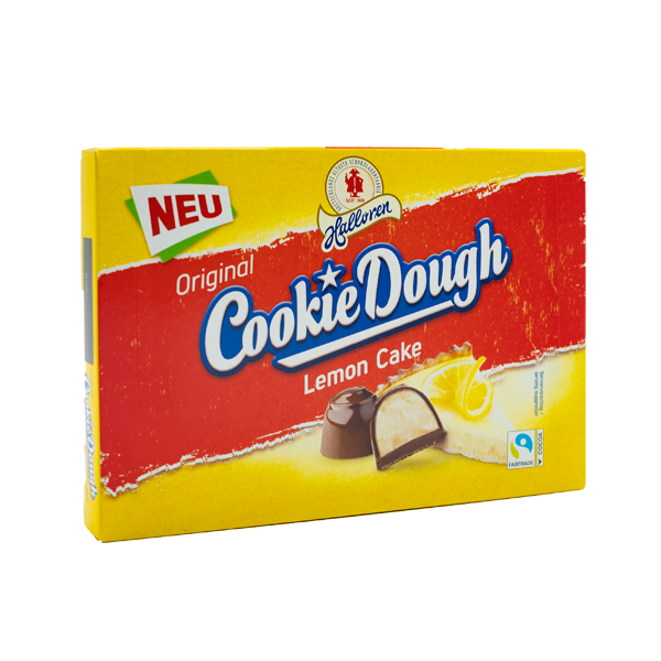 Original Cookie Dough Pralinen Lemon Cake in der 145g Packung