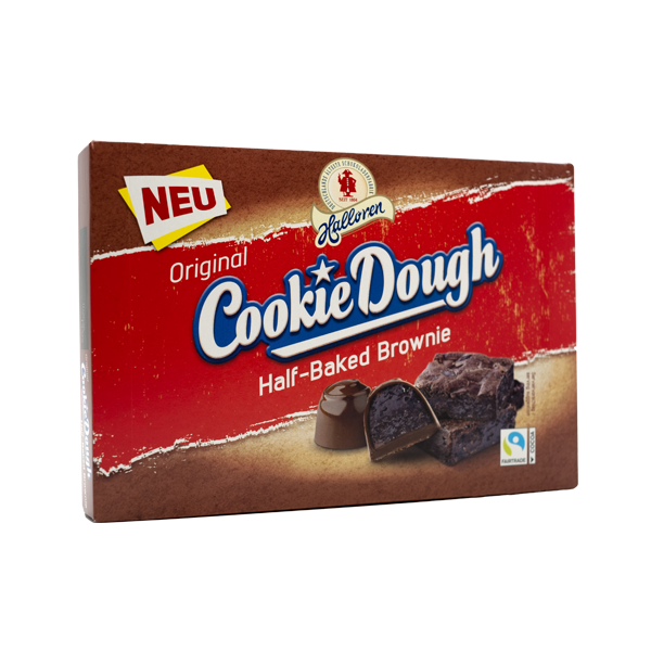 Original Cookie Dough Pralinen Half-Baked Brownie in der 145g Packung